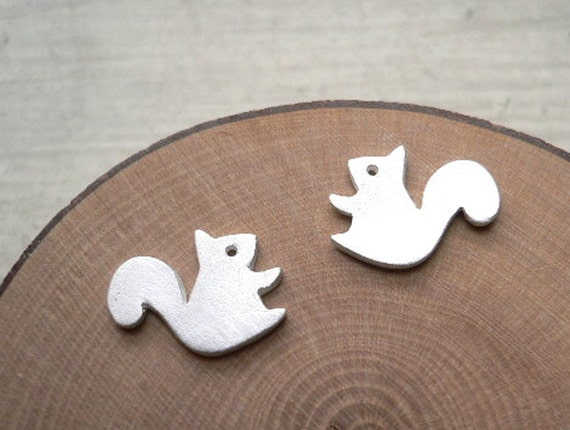 Forest Squirrel Earring - silver stud earrings - animal jewelry