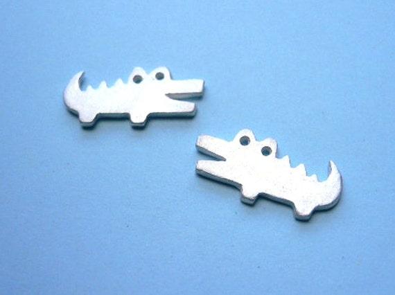 Crocodile Silver Earring - Animal Studs Earrings