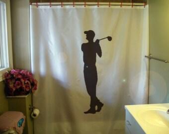 Golfer Shower Curtain Golf Club Swing Fore Sport Summer Is Coming Soon Bathroom Decor Kids Bath
