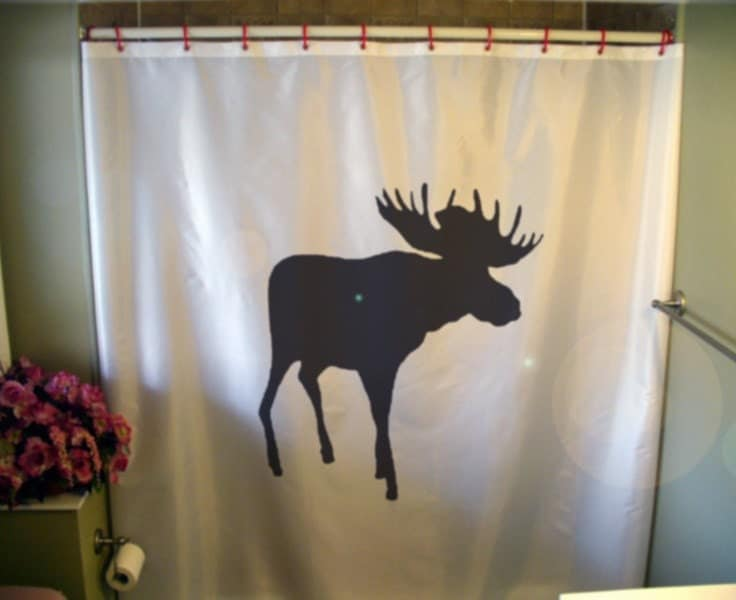 moose shower curtain elk palmate canada canadian north alaska
