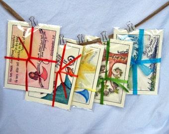 Scripture Memory Cards - Illustrated Scripture, Faith, Scripture Memorization Gift Sets, Bible Memory - Full Set of 30 in 6 Assorted Packs