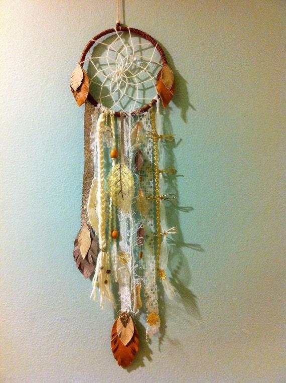 RHIANNON: woven dreamcatcher white lace FREE SHIPPING