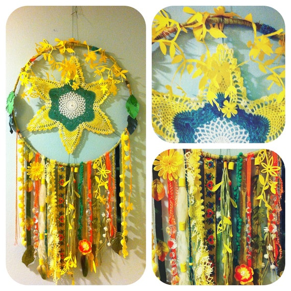 SALE Spring Dream Number 1 Floral Dream Catcher with FREE SHIPPING