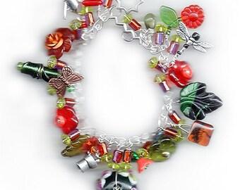 Autumn Garden Charm Bracelet - Reduced price