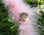 Candy Pink Small Short Haired Marabou Boa Feathers