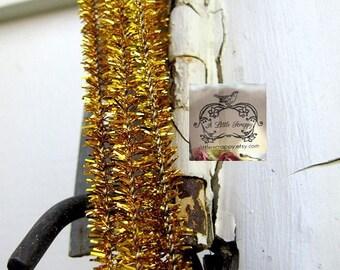 Sparkle and Shine Gold Metallic Tinsel Stems