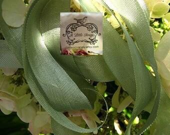 Rayon Seam Binding Ribbon Sea Moss Green