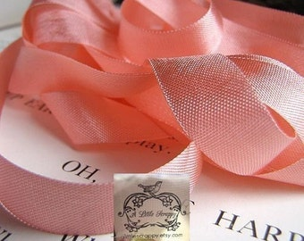 Rayon Seam Binding Ribbon Salmon Pink