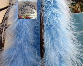 Flower Blue Marabou Boa Feathers