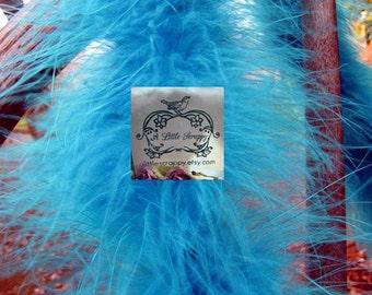 Turquoise Teal Blue Marabou Boa Feathers