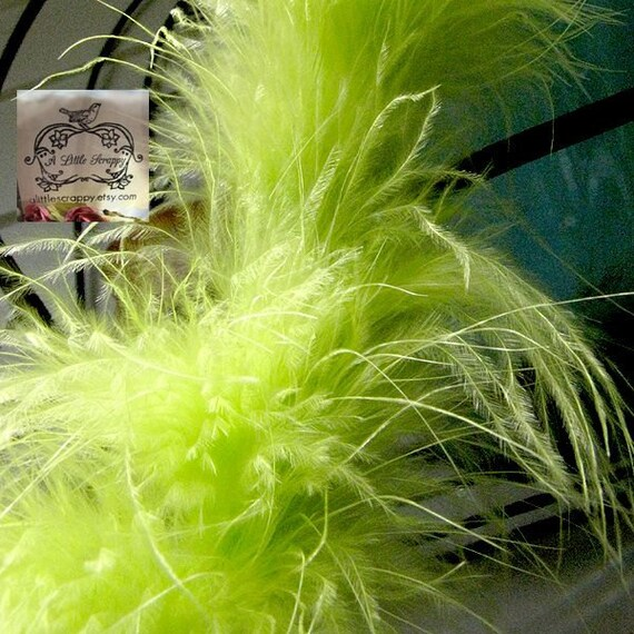 Lime Green Marabou Boa Feathers