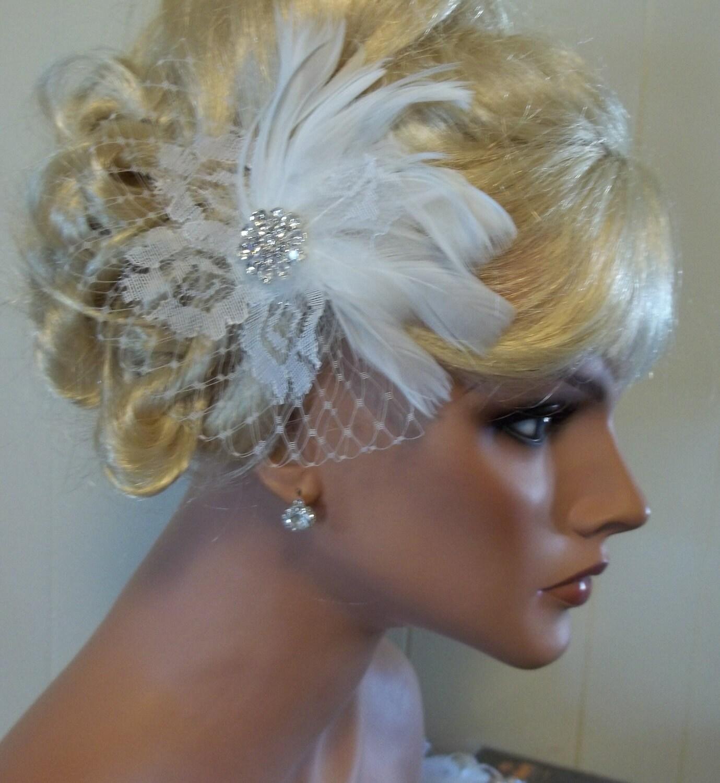 Fascinator Wedding Hair Clip Bridal Fascinator By Kathyjohnson3