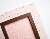 Tea Rose & Chocolate (Pink/Brown) Distressed Frame - Shabby Chic
