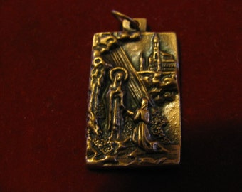 Copper Medal of Our Lady Lourdes pendant for religious jewelry, rosary,necklace,bracelet