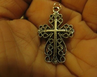 Silver Cross medal Religious Catholic jewelry pendant for necklace rosary charm bracelet