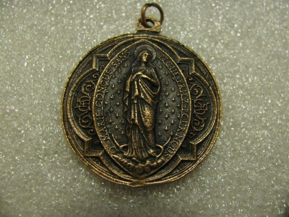 Copper Medal of Our Lady and Saint Religious Catholic Pendant for Necklace Rosary  Medal