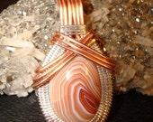 Red Pink Lake Superior Agate Pendant for Agate Days