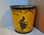 Mustard Tin Wastebasket