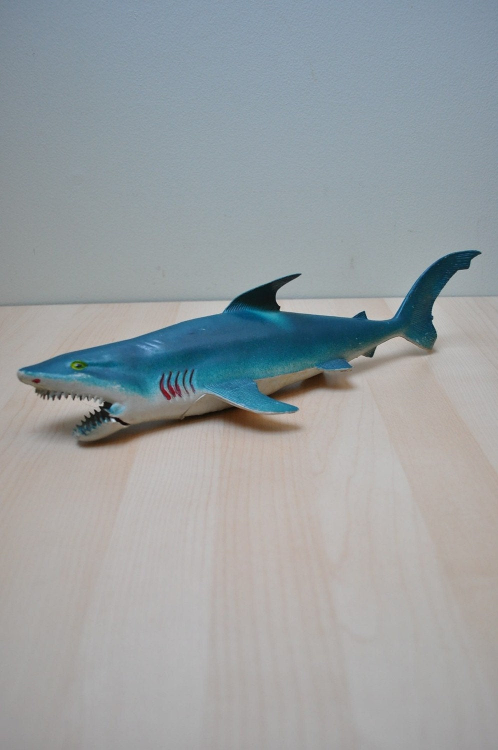 Shark Ship Toy : Rubber shark toy