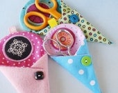 In-The-Hoop  Scissors Holder Machine Embroidery with Circle Applique 5x7 - Two Sizes