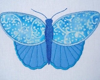 Butterfly Machine Embroidery Design Applique - Three Sizes - 4x4, 5x7 and 6x10