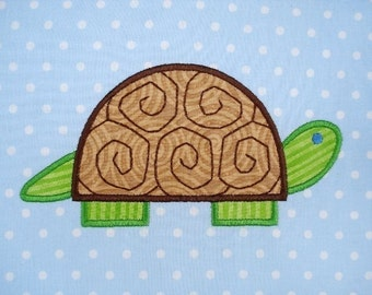 Turtle Machine Embroidery Design Applique - Two Sizes - 4x4 and 5x7
