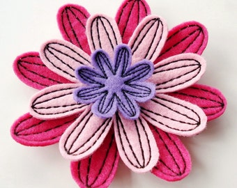 Embroidery Design for Machine Embroidery In-The-Hoop  Symmetrical Flower Number 3 - Four sizes
