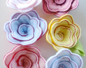 Embroidery Design for  Machine Embroidery - Rose In-The-Hoop (three dimensional) - Two sizes