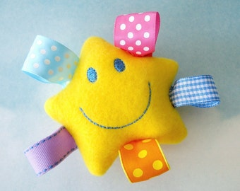 Embroidery Design for Machine Embroidery Smiling Star Toy In-The-Hoop