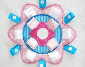 Embroidery Design for Machine Embroidery - Symmetrical Flower Applique - Three Sizes