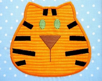 Tiger - Cat Face Machine Embroidery Design Applique 4x4 and 5x7