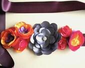 SALE - Gorgeous Sunset Colors Orange Purple Pink Handmade Sash - Ready to ship