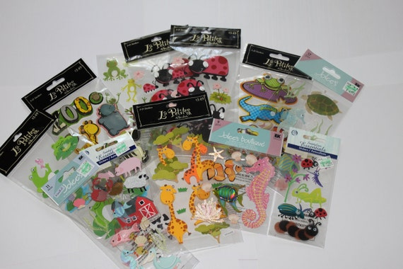 Huge lot of Animals, Fish/Sea life and Bug Scrap Book Stickers, FUN