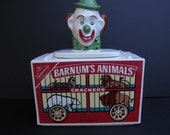 Vintage McCoy NABISCO Barnum's Animal Crackers Clown Collector Cookie Jar 1972