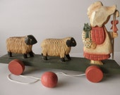 Mary Had a Little Lamb pull toy-Spring-children-nursery-wood
