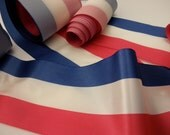 3 rolls of 4 inch trim- ribbon-USA-flag-July 4th-red, white and blue