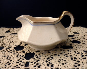 Vintage Limoges USA creamer with Gold Trim