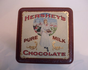 Vintage Hershey's Decorative TIN - chocolate, 1915 reproduction
