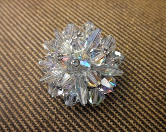 vintage crystal pin  - bling, glittery, rhinestones