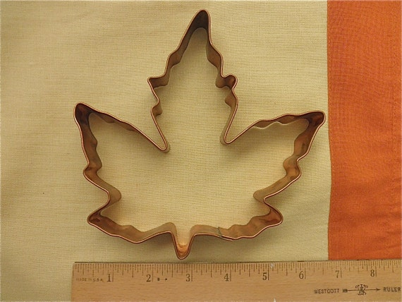 Large Copper Maple Leaf Cookie Cutter Autumn Fall