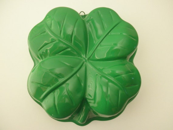 Four Leaf Clover Baking Pan Green Metal St Patrick S Day