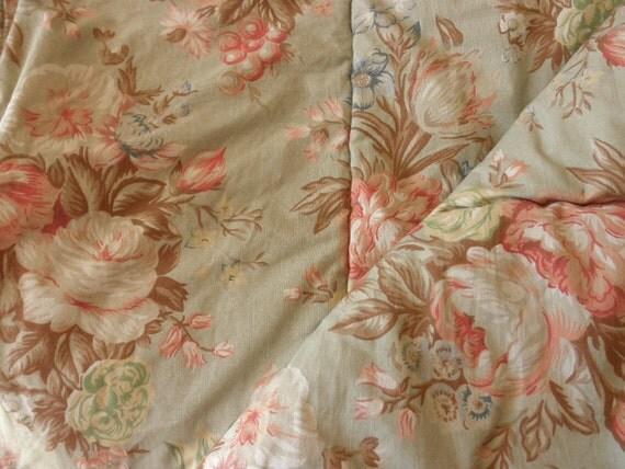 Vintage Ralph Lauren Floral Cotton Comforter Full Or Queen