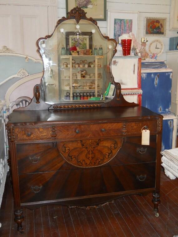 Vintage 1920s Mirrored Dresser
