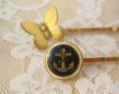 Butterfly and Anchor Bobby Pin Set