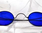 Rare Cobalt Blue Eyeglasses  -  Civil War - Vintage & Antique