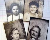 vintage photobooth photos (4) - girls - woman - lady - woman - antique - collage - instant ancestors