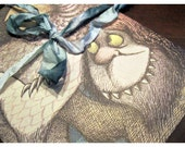 handmade recycled WHeRe THe WiLD THiNGS aRe stationary - 3 card with envelopes
