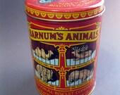vintage Barnum's Animals animal cracker tin - vintage tin - replica of 1914 design - cookie tin