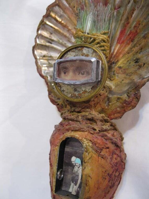handmade MERMAN voodoo art doll - MERMAN - ocean, mermaid, cocoon, steampunk