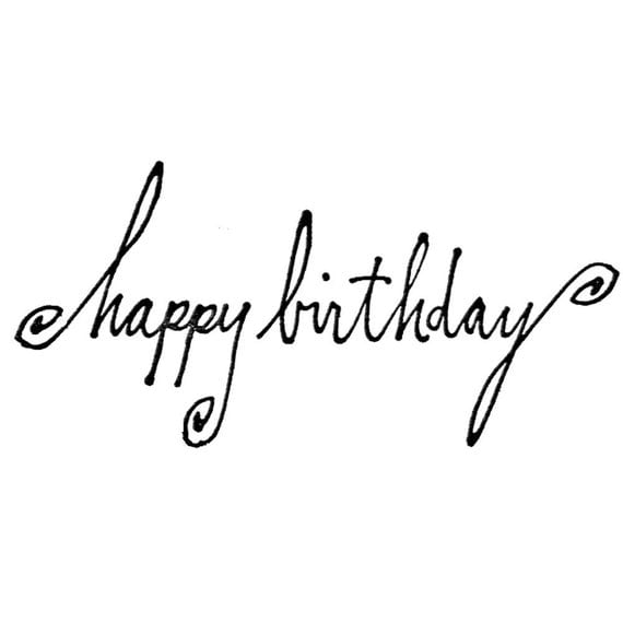 happy birthday in cursive writing Cursive is a style of writing in which all the letters in a word are connected it's also known as script or longhand when the third-grade students learned cursive writing, they were excited to find that they could write entire words without lifting their pencil from the.